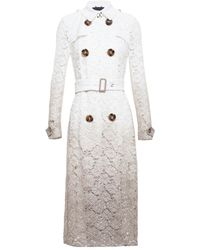 Burberry Prorsum Lace Trench Coat - Lyst
