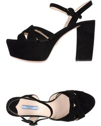 Prada Sandals black - Lyst