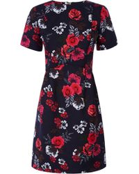 Oasis Fusion Rose Jacquard Dress blue - Lyst