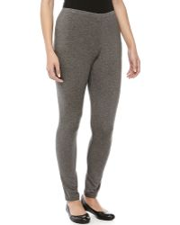 Donna Karan New York Heathered Jersey Leggings - Lyst