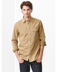 Gap Garmentdyed Oxford Shirt - Lyst