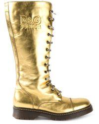 Dolce & Gabbana 'D&G Junior' Boots - Lyst