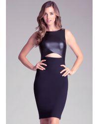 Bebe Colorblock Midi Dress - Lyst