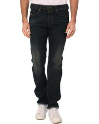 Diesel Buster C Raw Blue Sandy Tapered Jeans - Lyst