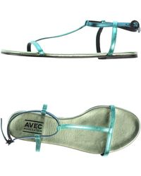Avec Moderation Sandals blue - Lyst