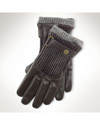 Polo Ralph Lauren Quilted Racing Gloves - Lyst