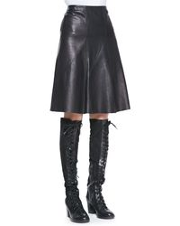Rag & Bone Kelly A-line Leather Skirt Black 0 - Lyst