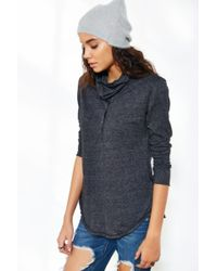 Truly Madly Deeply - Cowl-Neck Henley Top - Lyst