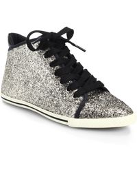 Marc By Marc Jacobs Glittered High-Top Sneakers - Lyst
