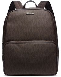 Michael Kors Printed Faux-Leather Backpack - Lyst