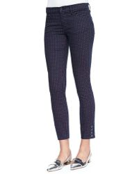 Tory Burch Emmy Printed Skinny Ankle Pants - Lyst