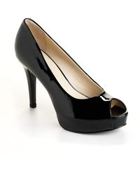 Nine West Camya Peep Toe Pumps - Lyst