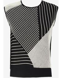 Timo Weiland Mixed Stripe Pattern Sleeveless Knit - Lyst