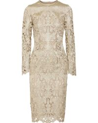 Erdem Merete Metallic Broderie Anglaise Dress - Lyst