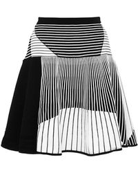 Prabal Gurung Striped Flared Knit Skirt - Lyst
