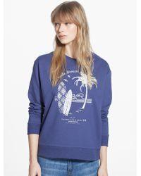 Mango Surf Printed Sweatshirt - Lyst