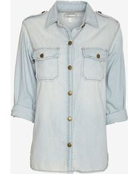 Current/Elliott Perfect Denim Shirt Light Wash - Lyst