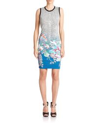 Roberto Cavalli Mixed-Print Jersey Dress multicolor - Lyst