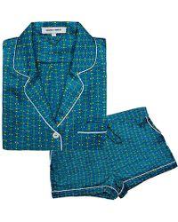 Olivia Von Halle Alba Valentina Pajama Set - Lyst