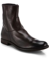 To Boot Scott Zip Leather Boots - Lyst