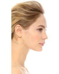 Sam Edelman - Organic Hoop Earrings - Rhodium - Lyst