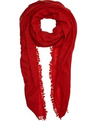 Ann Demeulemeester Fringed Scarf - Lyst