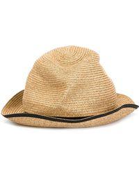 Mature Ha. - Contrasting Band Hat - Lyst