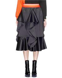 Fyodor Golan - 'orchid' Stripe Waist Ruffle Satin Skirt - Lyst