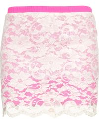 Loyd/Ford - Floral-lace Mini Skirt - Lyst