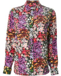 Equipment Floral Print Blouse - Lyst