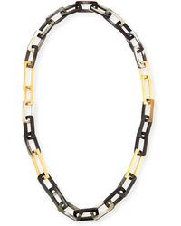 Maiyet - Horn And Gold-plated Link Necklace - Lyst