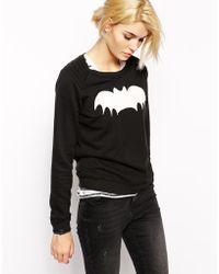 Zoe Karssen Sweatshirt with Bat Print - Lyst