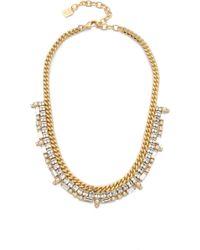 DANNIJO - Reids Necklace - Gold/clear - Lyst