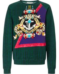 Mary Katrantzou Sweatshirt Anchor Badge - Lyst