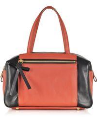 Sonia Rykiel Ambroise Color Block Boston Leather Shoulder Bag - Lyst