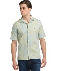 Lacoste Abstract Print Oxford Sport Shirt - Lyst