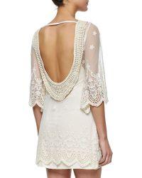 Golden by JPB - La Vie En Ros Open-back Lace Dress - Lyst