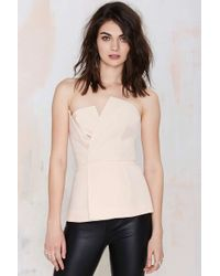 Nasty Gal Cameo Don'T Wait Asymmetrical Bustier Top - Lyst