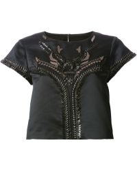 Temperley London Ammi Cropped Blouse - Lyst