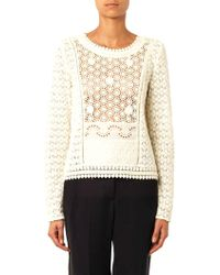 Vanessa Bruno Athé Belinda Guipure-lace Top - Lyst