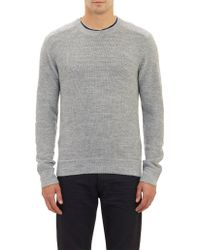 Theory Beadstitch Pullover Sweater - Lyst