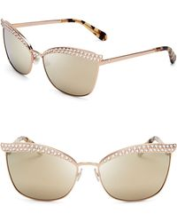 Kate Spade Leandra Mirrored Cat Eye Sunglasses - Lyst
