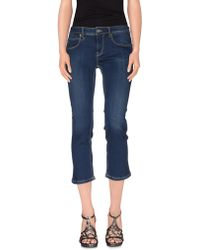 Burberry Brit - Denim Capris - Lyst
