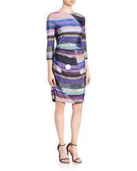 Kay Unger | Striped Jersey Dress | Lyst