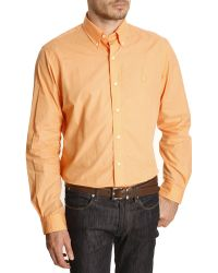 Polo Ralph Lauren Orange Color Poplin Slim Shirt - Lyst