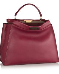 Fendi Peekaboo Medium Leather Tote - Lyst