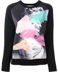 Lulu & Co Printed Sweater - Lyst