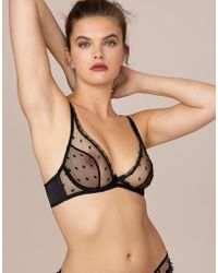 Agent Provocateur - Madelina Plunge Underwired Bra - Lyst