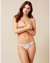 Agent Provocateur - Laia Thong White And Blue - Lyst