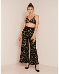 Agent Provocateur - Genevieve Tux Trouser Black And Gold - Lyst